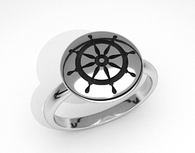 new fashion round sailors steering 3d jewelry ring 1