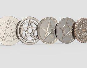 Pentacles 3D printable model