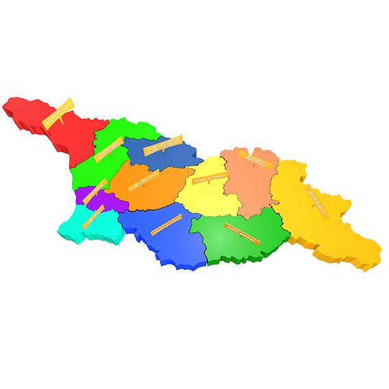 Georgia map 3D model
