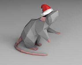 3D print model Christmas mouse