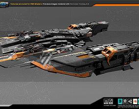 FEDERATION Frigate GX9 3D model game-ready