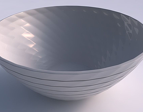 Bowl wide with hard horizontal dents 3D print model