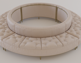 Luxury Circular Seating Modules Pack Low poly PBR 3D model