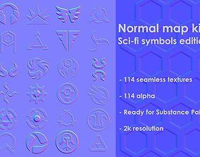 3D Normal map kit 2 Sci-fi symbols edition