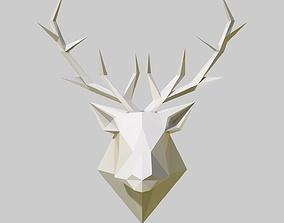 cnc 3D printable model deer head