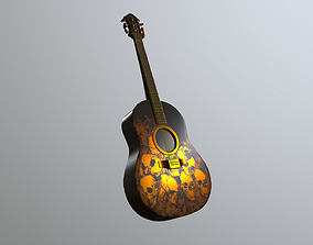 3D model low-poly Guitar