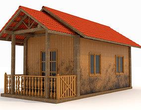 Wood house movie 3D model