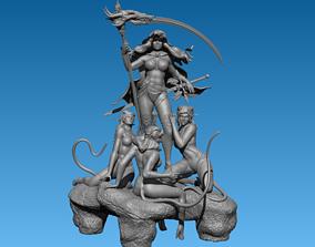 3D print model Lady Death statue