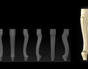 CARVED CABRIOLE Furniture LEG set - 010 3D print