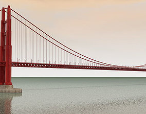 3D The Golden Gate Bridge