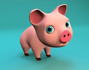 cartoon little pig 3D model