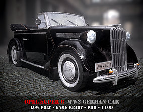 Opel 6 Super - WW2 German Car - Game Ready - PBR 3D asset