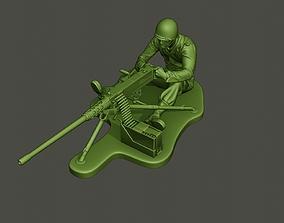 American soldier ww2 firing A7 3D print model
