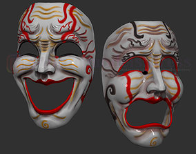 Comedy and Tragedy Theater Mask Set 3D print model 2