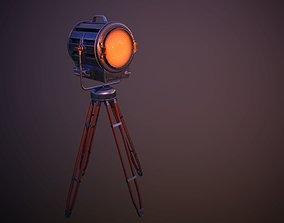 3D asset Vintage Spotlight