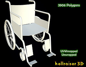 Wheelchair game 3D model realtime