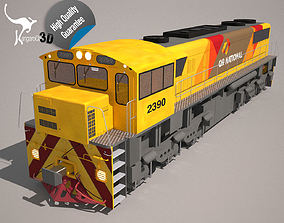 3D Locomotive QR National Class 2390