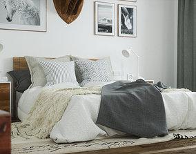 Scandinavian Bedroom Octane Render 3D