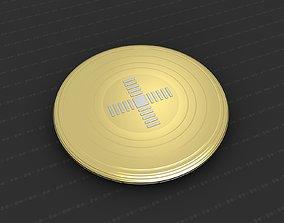 Cross Medallion 3D print model worship badges