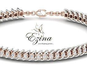 3D printable model Link diamond bracelet