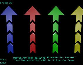 Low poly arrow 26 3D asset