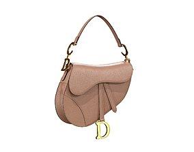 3D model Dior Saddle Bag Blush Grained