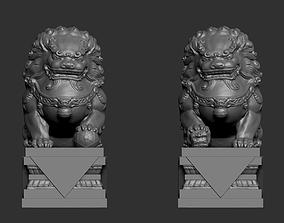 3D printable model Guardian Lions 003