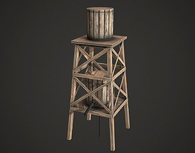 3D asset Water Tower Low Poly