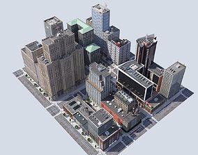 game-ready Metropolis city block 3D