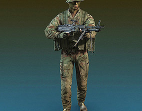 3D model US Navy SEAL Jungle version with MK-43 machine