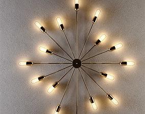 3D lamp astoria 15 arms