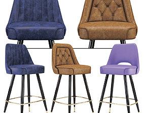 Bar Stool set Richardson Seatings 2 3D model