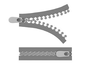 disjunct 3D Zipper
