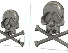 3D print model Great Harlock Pins