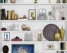 decorative set number Shelves 37 3D model