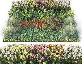 flower 3D model Flowerbed 3