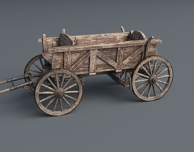 Horse Drawn Cart 3D model realtime