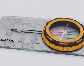 Expedition Baseplate Compass 3D model rigged