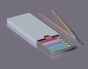 Tube Paint set 3D asset