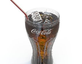 3D Coca Cola cup with ices