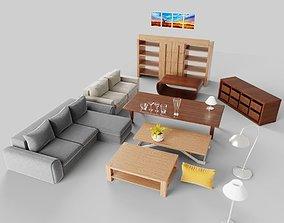3D model Livingroom Furniture Set