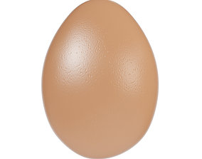 3D model Brown egg 2