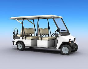 3D model Golf Cart - Low poly
