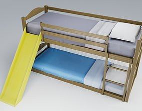 bed Bunk Bed 3D Model realtime