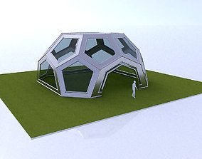 3D Pentagon Dome with frame and glass