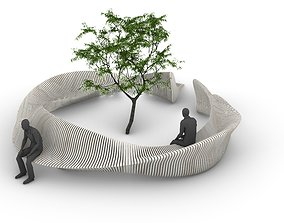 3D model Parametric Tree Bench Seat