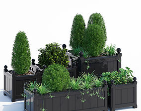 Windsor Planter in Black 3D