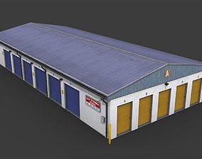 3D asset Selfstorage Warehouse Building