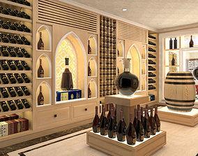 3D Wine room restaurant