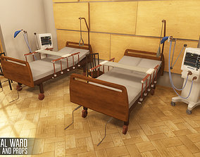 Hospital ward - interior and props 3D model